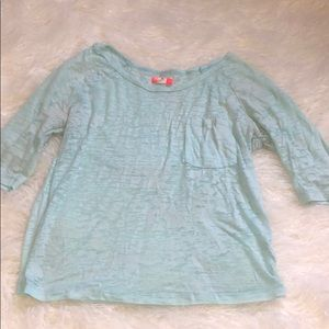 Baby Blue Acid Wash Urban Outfitters Tee Shirt
